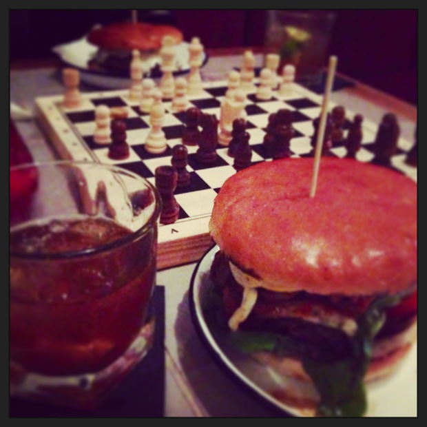 Arts Club: Burger, Old Fashioned, Chess - wonderful