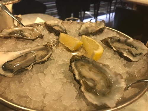 Randall & Aubin Manchester Restaurant Review Seafood Oysters French Champagne Bar