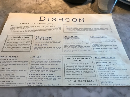 Dishoom Manchester Restaurant Review Indian Bombay Mumbai Blog Post